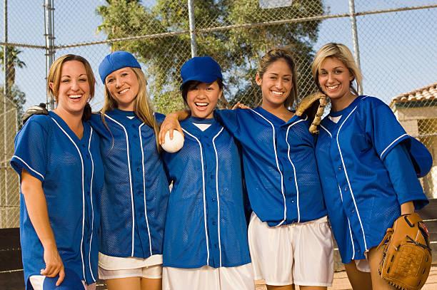 Softball équipe célèbre la victoire - Photo