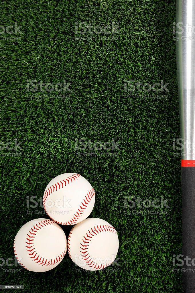 Softballs and Bat stock photo