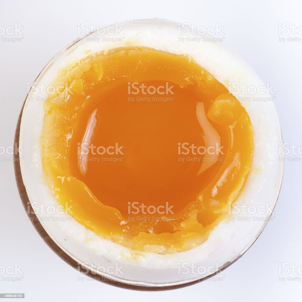 Soft-boiled egg stock photo