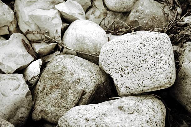 Softly Shaded Rocks stock photo