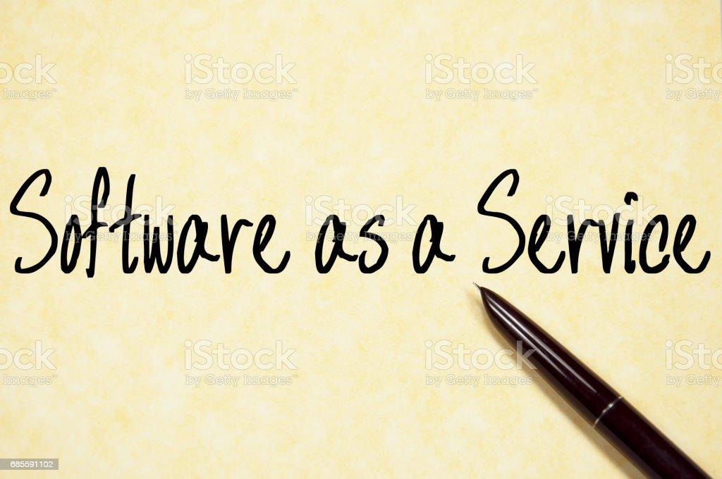 在紙上寫的軟體作為服務文本 免版稅 stock photo