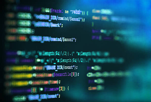 Software computer programming code abstract technology background - foto stock