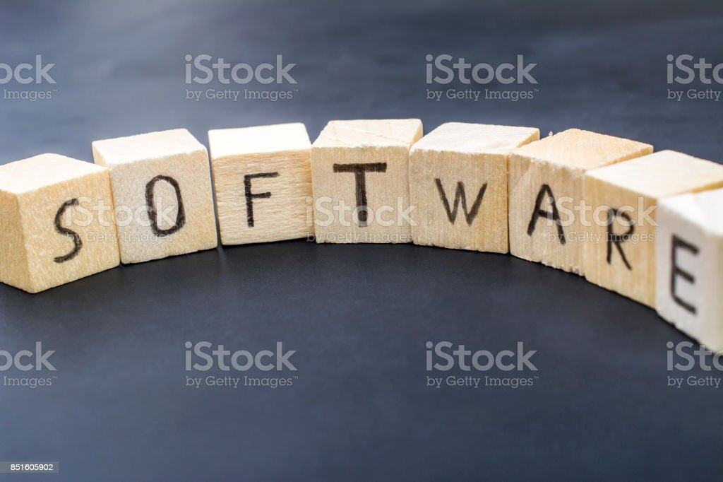 Software concept close-up photo stock photo