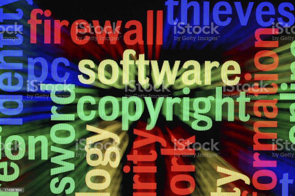 Software copyright royalty-free stock photo