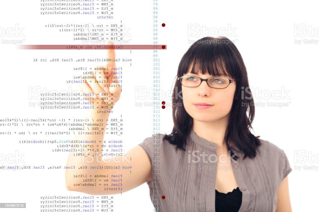 software debugging royalty-free stock photo