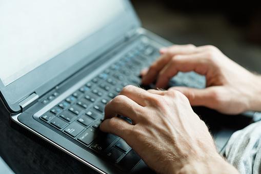 Software Developer App Designer Man Hands Laptop Stock Photo Download Image Now Istock