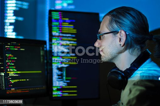 844472230 istock photo Software developer, freelancer working with program code 1173803639