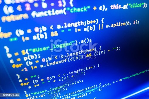 istock Software developer programming code on computer 483083044