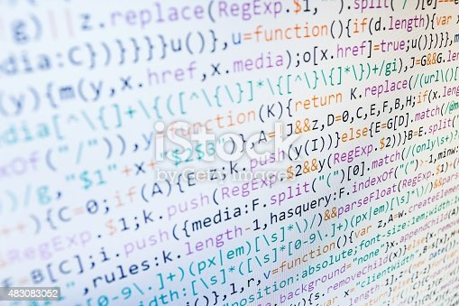 istock Software developer programming code on computer 483083052