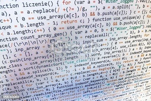 istock Software developer programming code on computer 483083054