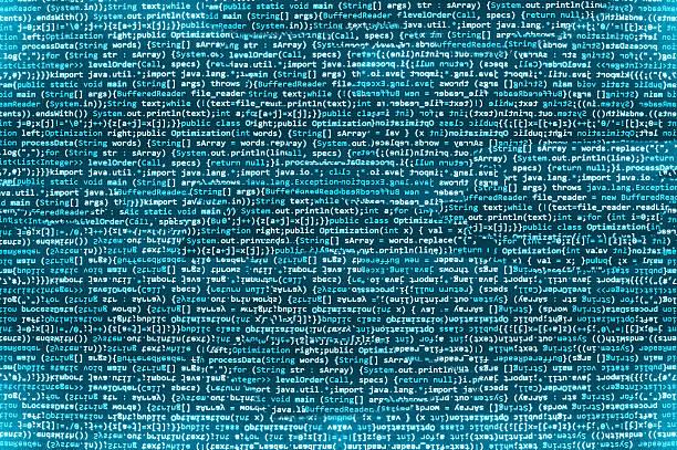 software-entwickler-programm-code auf einem computer - html stock-fotos und bilder