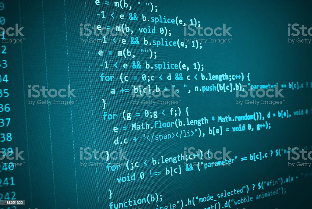 Software developer programming code on computer royalty-free stock photo