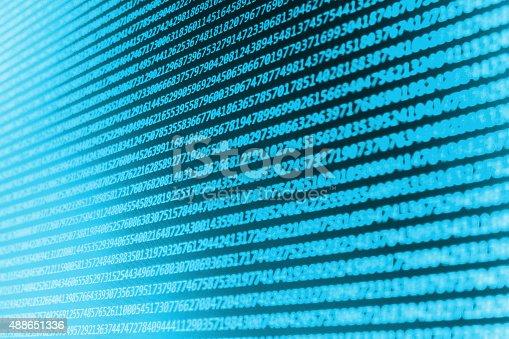 istock Software developer programming code on computer 488651336