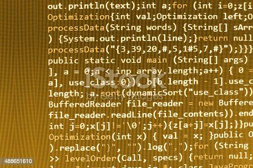 istock Software developer programming code on computer 488651610