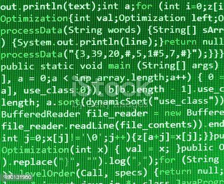 istock Software developer programming code on computer 490131950