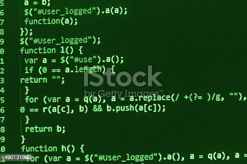 istock Software developer programming code on computer 490131960