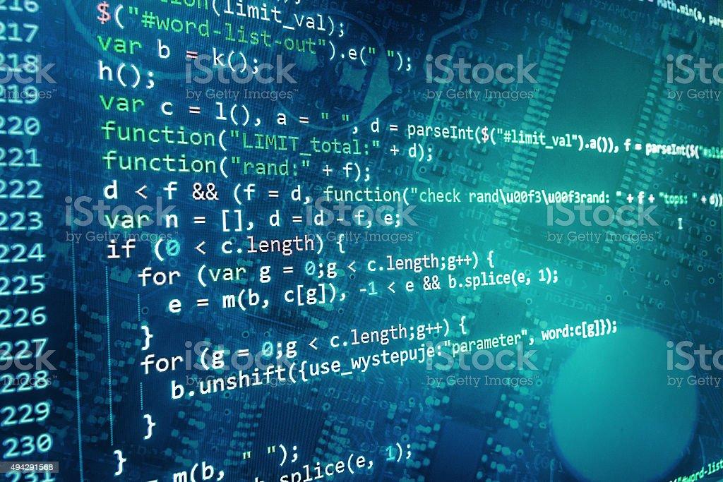Software-Entwickler-Programm-code auf einem computer - Lizenzfrei 2015 Stock-Foto
