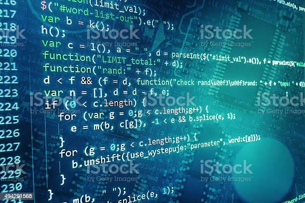 Softwareentwicklerprogrammcode Auf Einem Computer Stockfoto und mehr Bilder von 2015