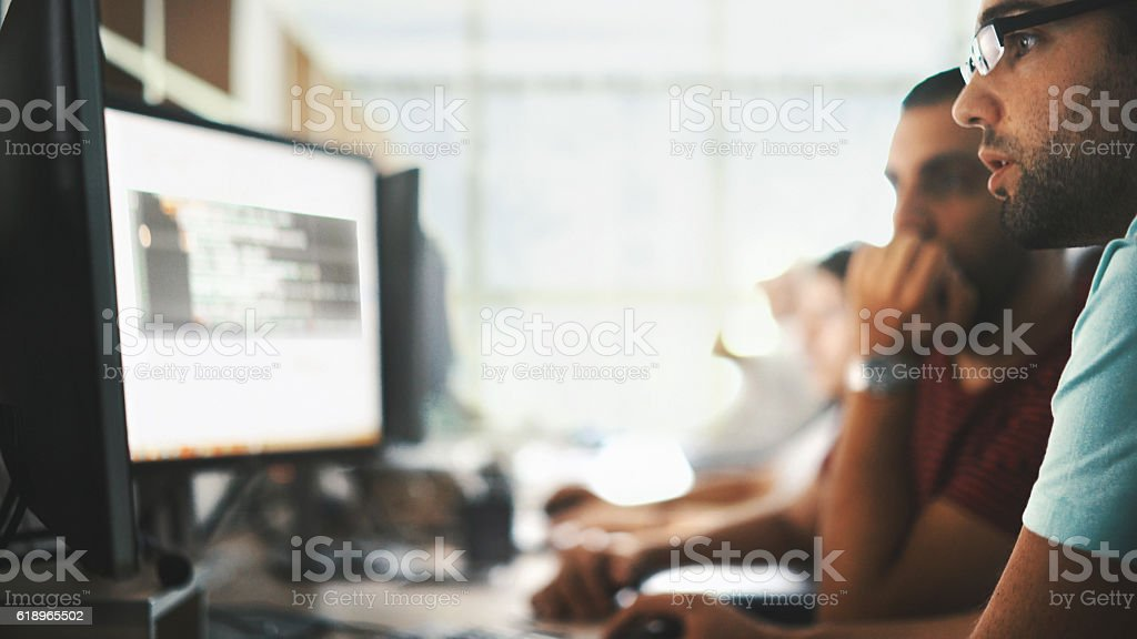 Software developers. - foto de acervo