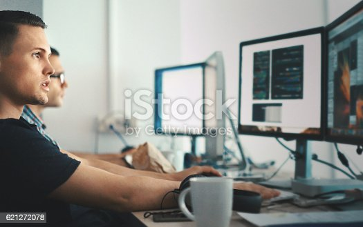 istock Software developers. 621272078