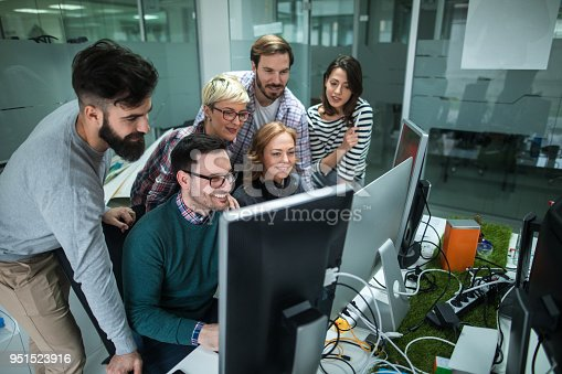 istock Software developers solving a problem 951523916
