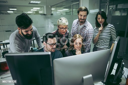 istock Software developers solving a problem 960786108