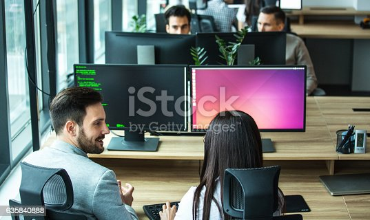 istock Software developing team. 635840888