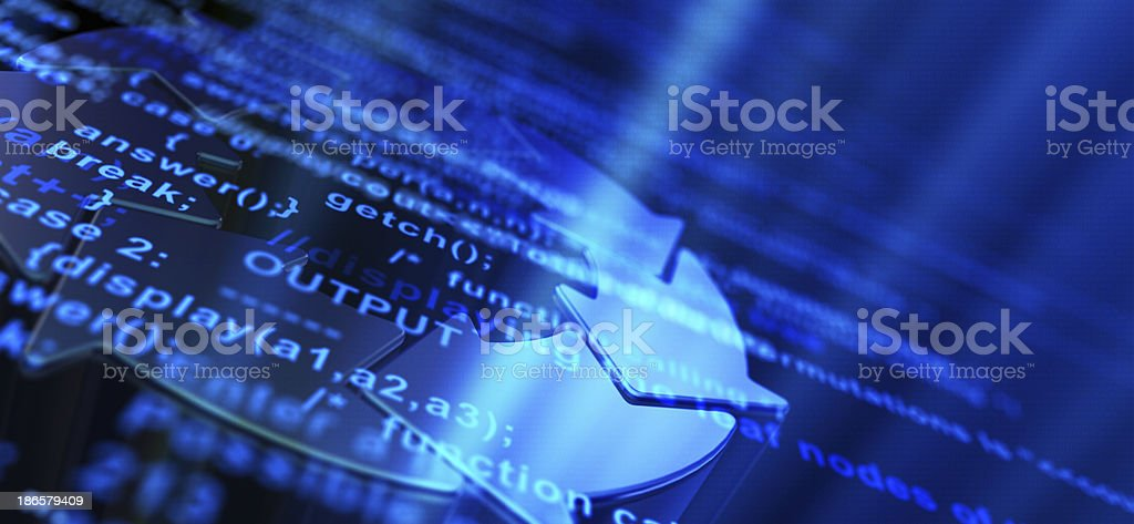 Software Development Abstract Background stock photo