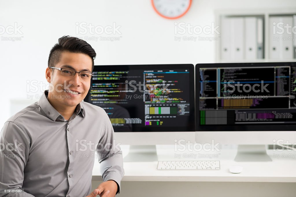 Software engineer stock photo
