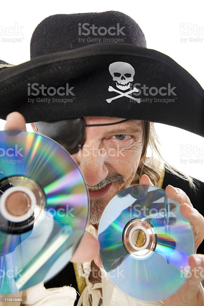 Software or music pirate stock photo