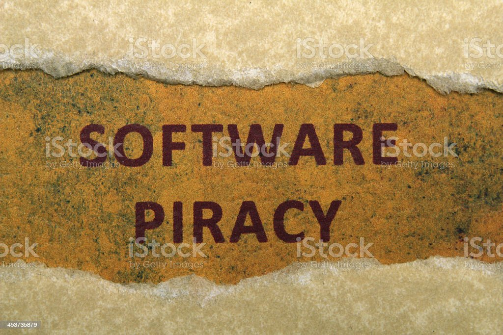 Software piracy stock photo