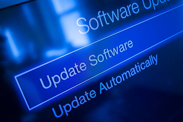 Software Update Screen Software Update Screen update communication stock pictures, royalty-free photos & images