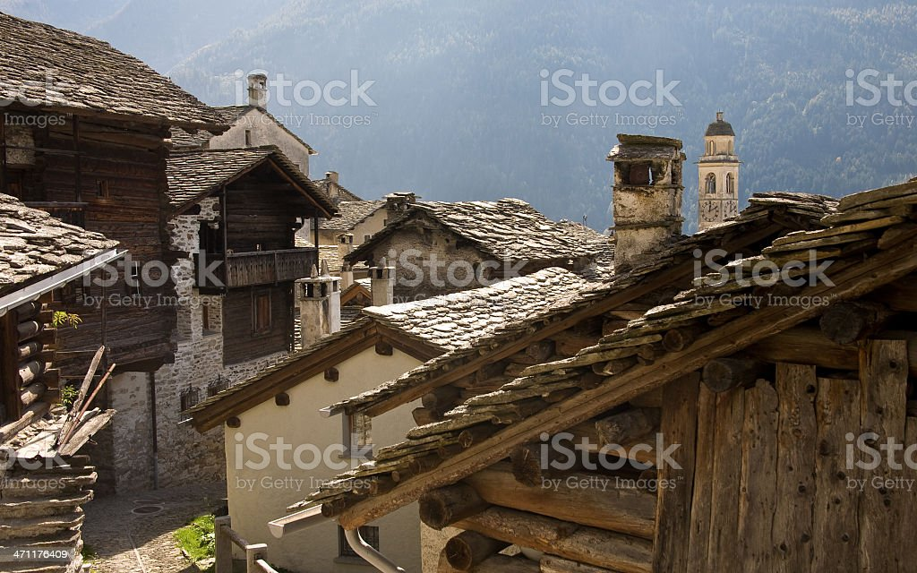 Soglio im Bergell stock photo
