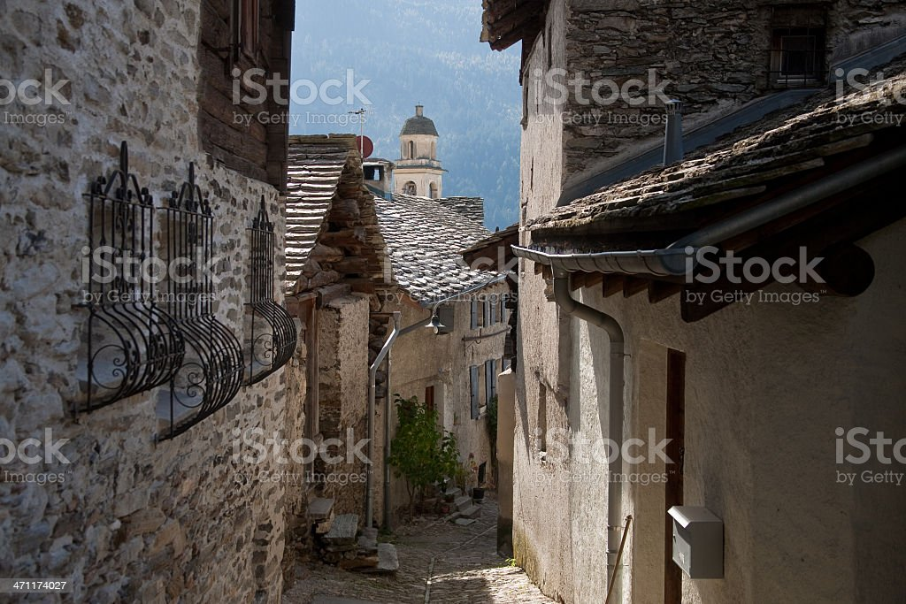 Soglio im Bergell-2 stock photo