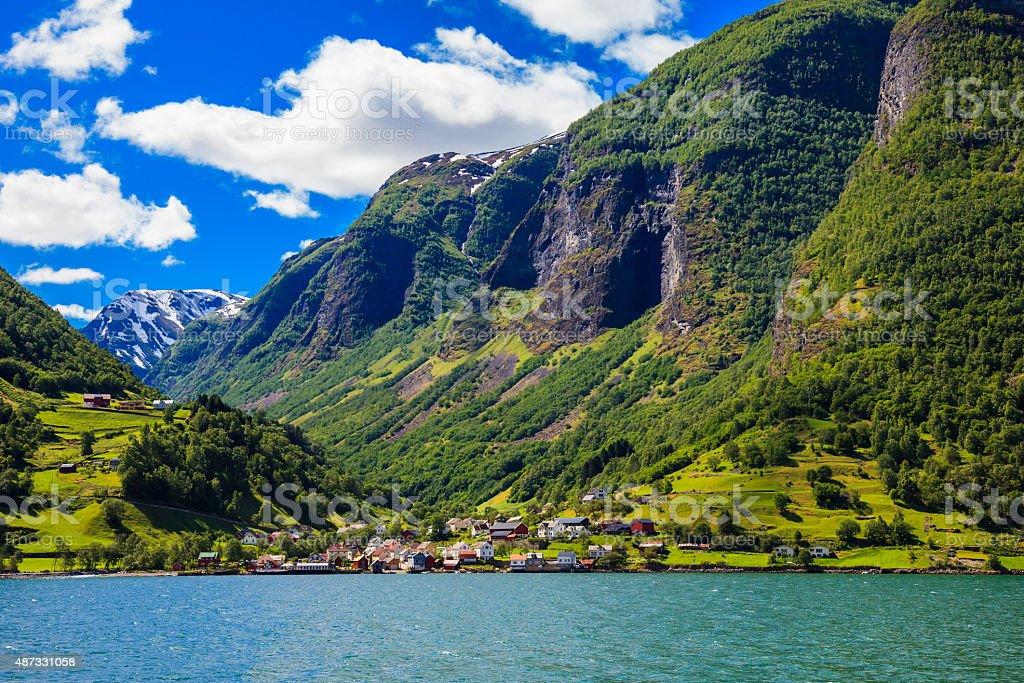 Sognefjord Scene stock photo