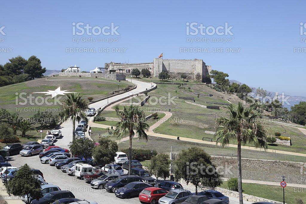Sohail Castle in Fuengirola, Spain royalty-free stock photo