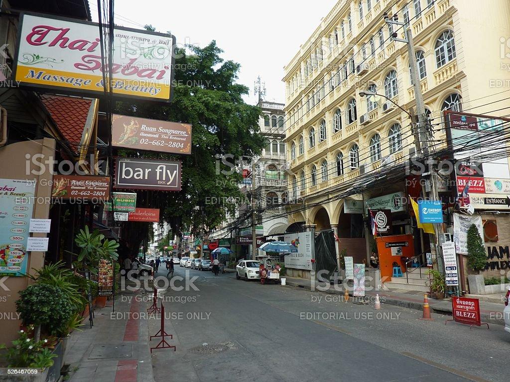 Soi 33 nightstrip, Sukhumvit Bangkok stock photo