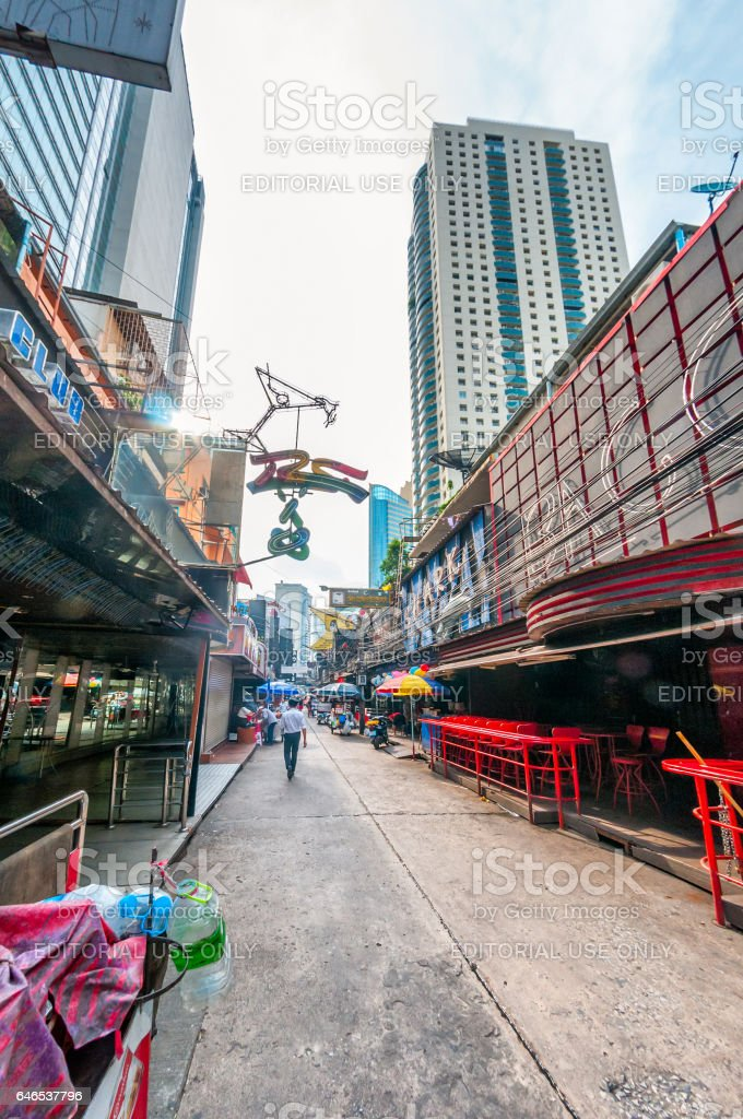 Soi Cowboy During The Day, In Bangkok Thailand stock photo