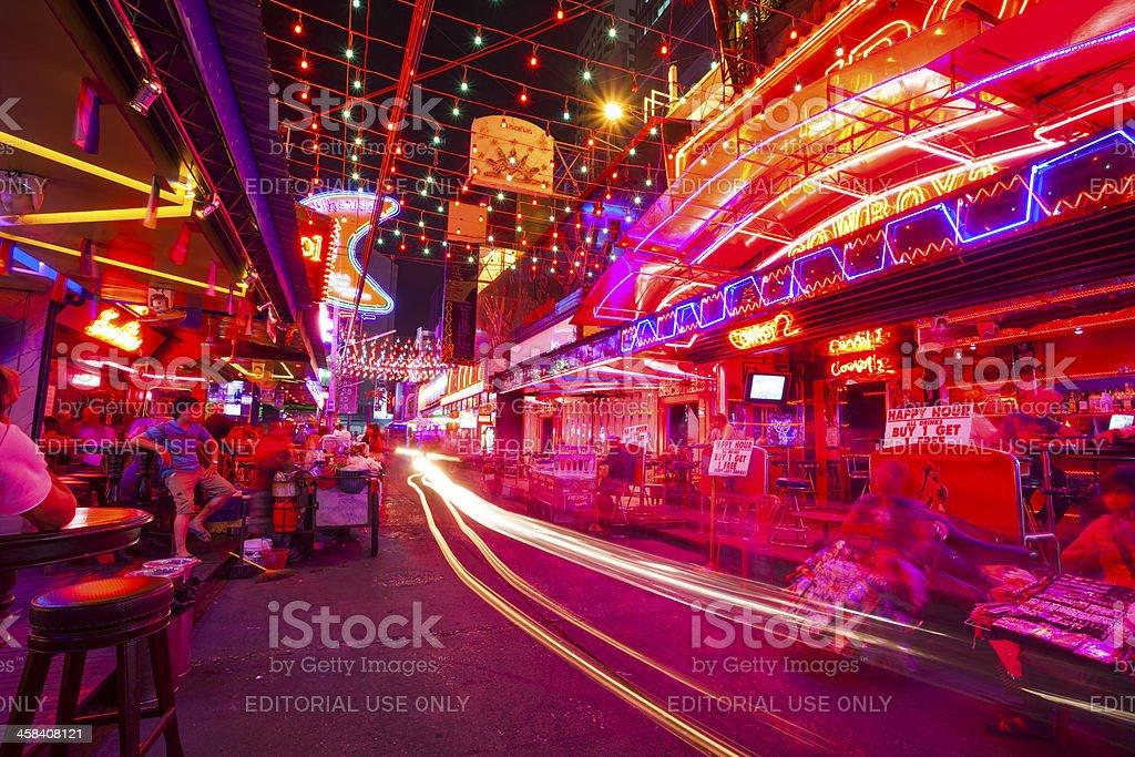 Soi Cowboy entertainment district in Bangkok stock photo