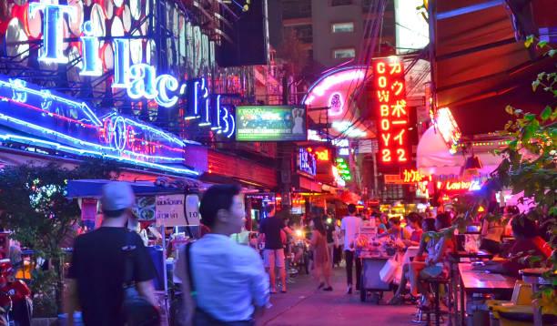 Soi Cowboy in Bangkok stock photo