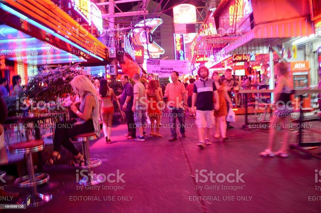 Soi Cowboy nightlife scene, Bangkok stock photo