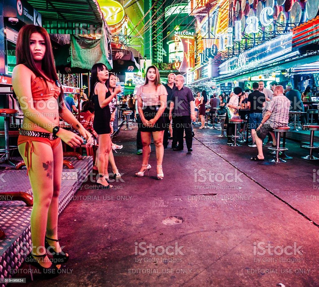 Soi Cowboy Red Light District Bangkok Thailand Stock Photo ...