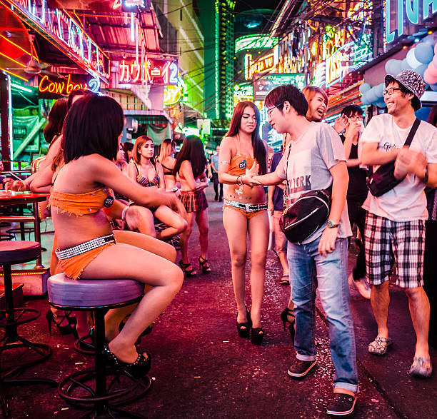 Soi Cowboy red light district Bangkok Thailand stock photo