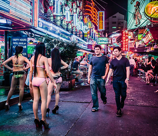 Soi Cowboy red light district Bangkok Thailand stock photo