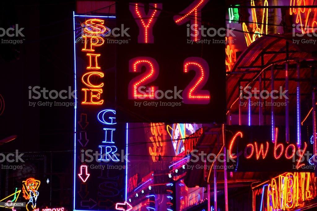 Soi Cowboy red lights, Bangkok stock photo