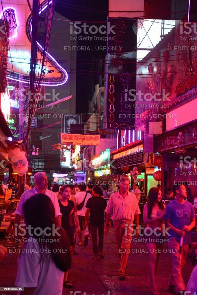 Soi Cowboy red lights, Bangkok, Thailand stock photo