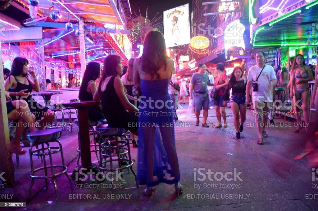 Soi Cowboy strip, Bangkok, Thailand stock photo