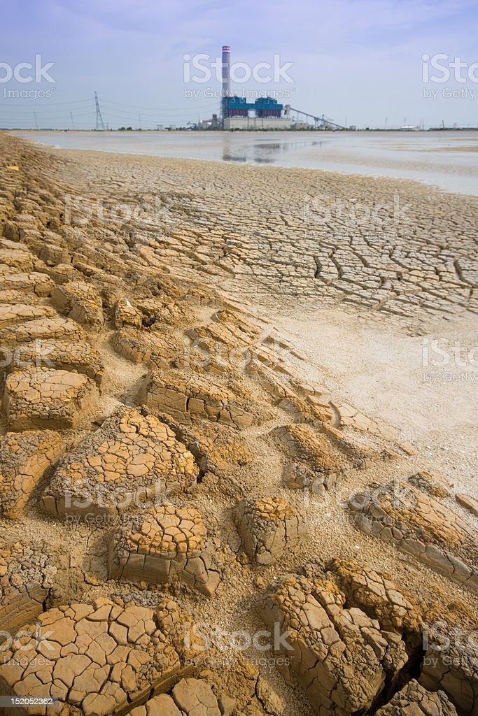Soil at industrail area Rayong Thailand royalty-free stock photo