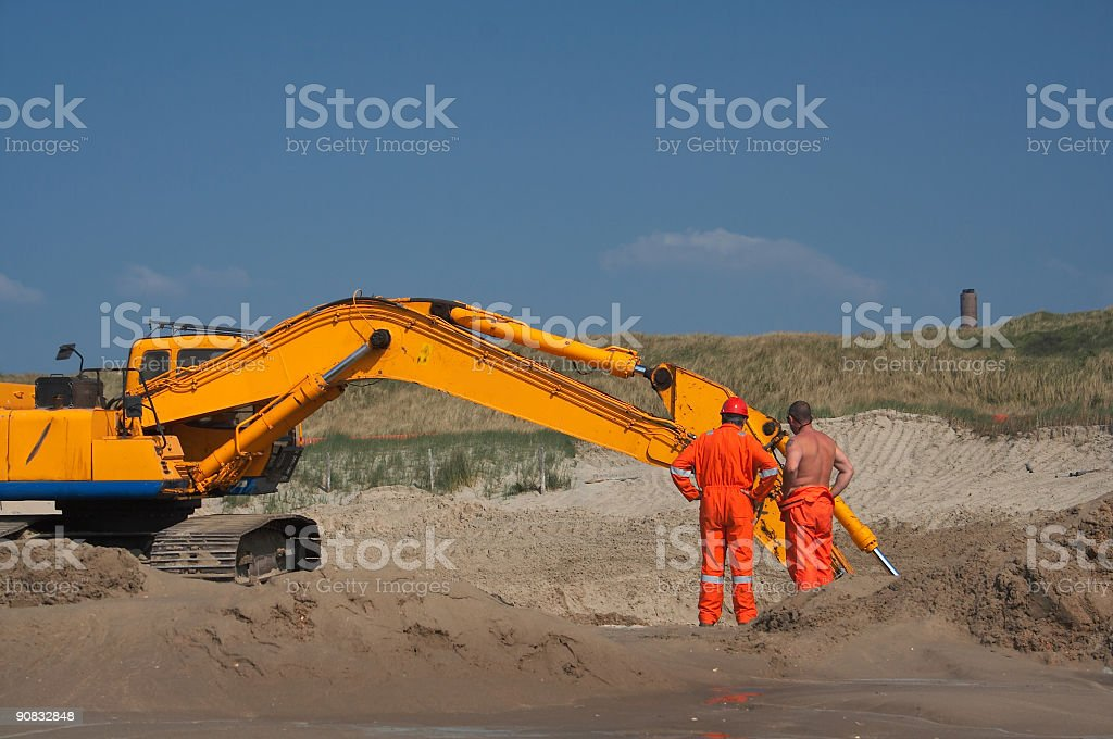 Soil engineering royalty-free stock photo