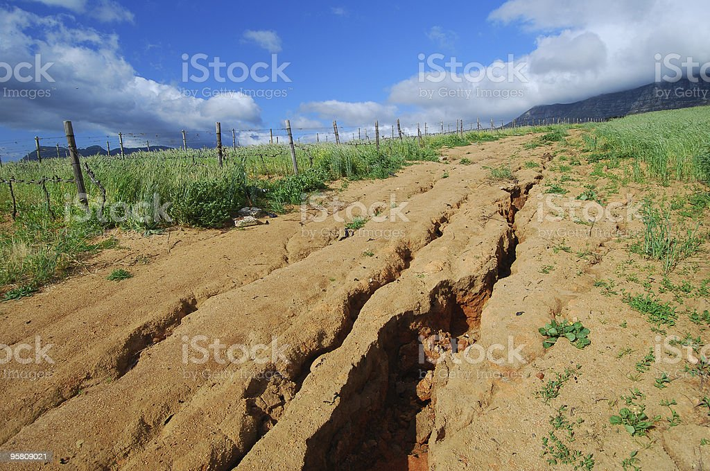 Soil erosion royalty-free stock photo